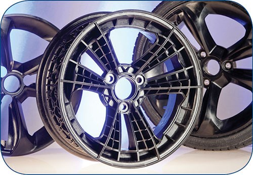 Car wheel of BASF Ultramid Structure long-glass nylon