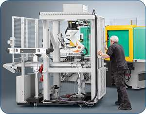 Mobile six-axis robot from Kuka and Arburg