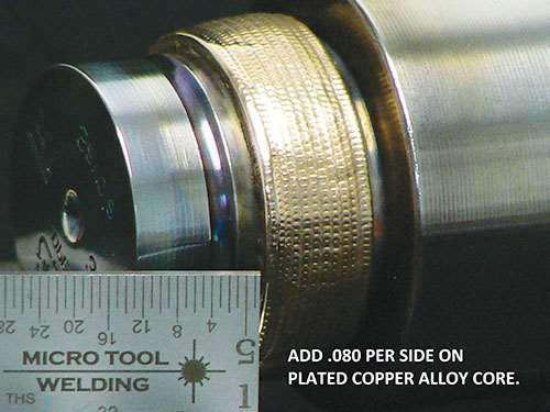 copper alloy core