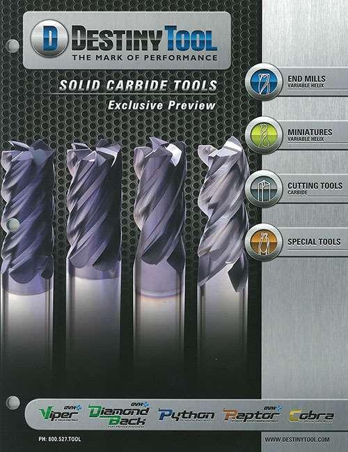 Destiny Tool Solid Carbide Tools catalog