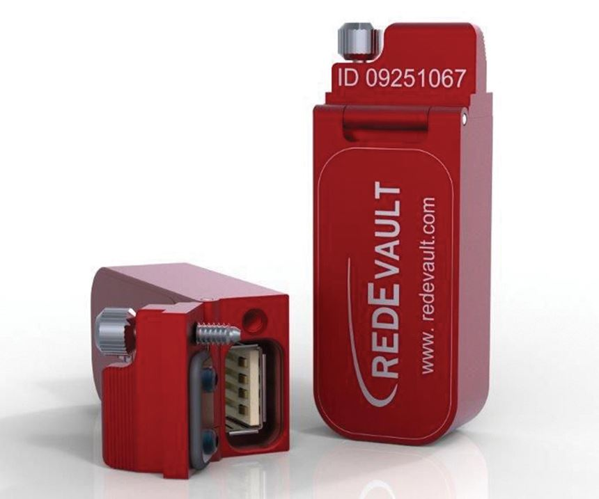Red E Vault on board data storage