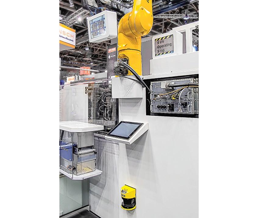 Staubli Robot with laser scanner