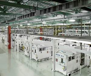 A machining line deploying Heller equipment installed at Detroit Diesel was specified at order to take into account the possibility of retrofitting and upgrading the line to extend its capability over time.