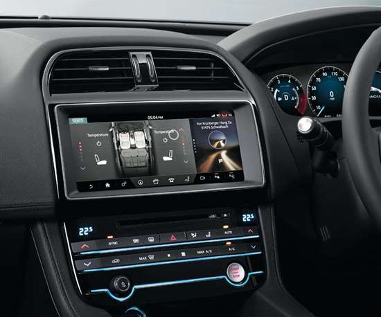 The Jaguar F-PACE interface.