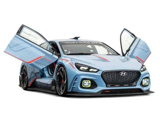 The Hyundai RN30 concept race car features the extensive use of polymer materials inside and out.