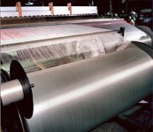 The weaving operation at Ten Cate, where Cetex semipreg is woven and partially impregnated for Stork Fokker.