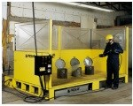 High-pressure cleaning and phosphating station.