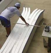 Cutting EPS Foam Blanks