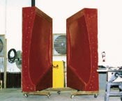The composite clamshell mold for the 7-ft by 5-ft (1.8m by 1.5m) MCM rudder. A similar mold will be built for the larger Twisted Rudder demonstrator.