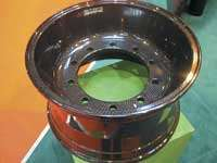 At the SAMPE Europe/JEC event in Paris, Prins Dokkum (Dokkum, The Netherlands) exhibited its innovative Dynawheel, an all-carbon-fiber truck wheel for