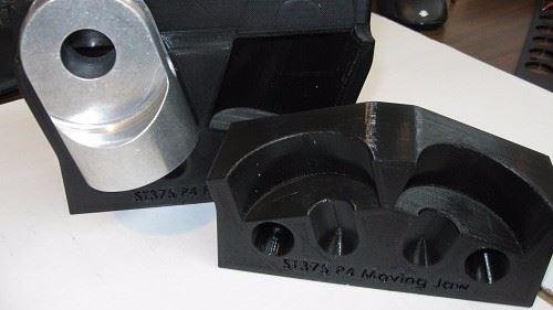 3D printer generated custom vise jaws