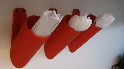 3D printed wall racks