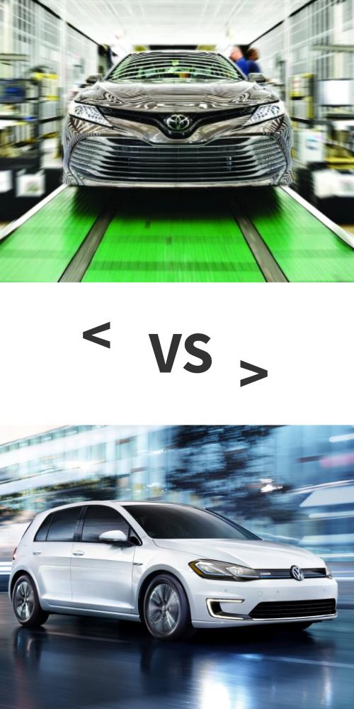 toyota camry vs e-golf