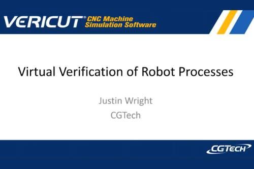 Virtual Verification of Robot Processes