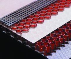 Acoutic honeycomb panel
