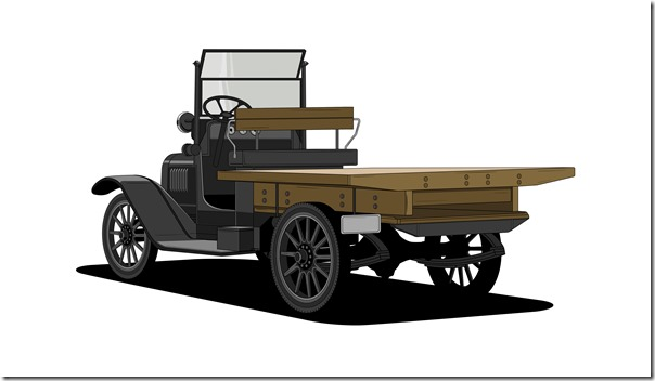 1918 One-Ton – The first Chevy truck, inspired by factory workers who modified vehicles to run parts through the factory.