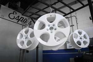 Espo's Powder Coating in Staten Island focuses on tire rims and accessories.