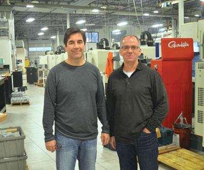 Robert Peha, left, and Dean Handaly own IDL Precision Machining in Mukilteo, Washington.