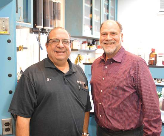 Stephen Candiloro Jr., left, and Paul Brancato are owners of Epner Technology along with Dariusz Gustek and namesake David Epner.