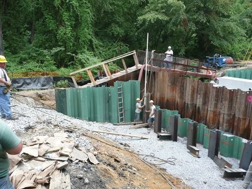 powder coated pilings