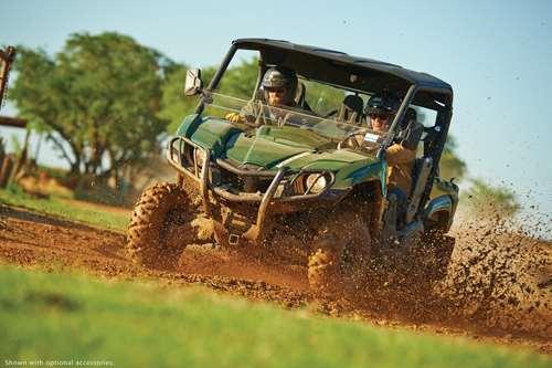 yamaha vehicle in mud