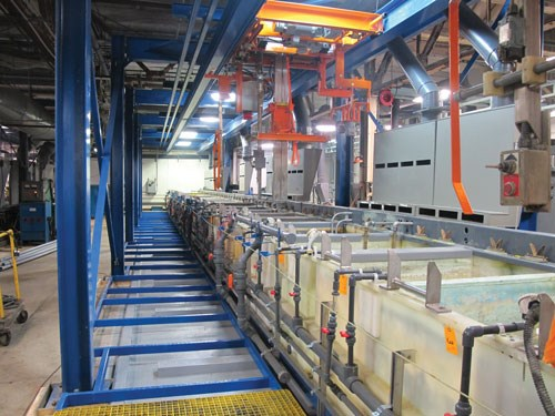 Monroe Plating began looking at adding capacity, which meant expanding its operation and adding a finishing line.