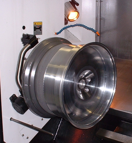 wheel on cnc lathe