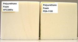 PUR foams produced with DuPont's new zero-ODP, low-GWP FEA-1100 blowing agent