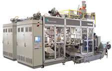 Advance series high-production continuous-extrusion shuttle machin