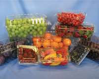 Punched produce boxes