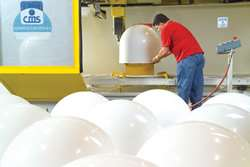 ABS radomes receiving a CNC trim