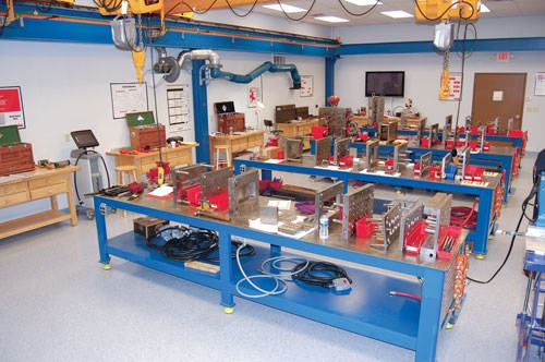 The training room at ToolingDocs Mantenance Center in Ashland, Ohio.