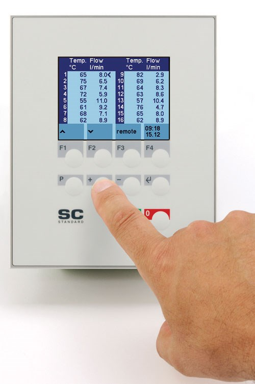 Monitoring of flow and temperature