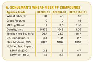 Wheat/Fiber PP Compounds