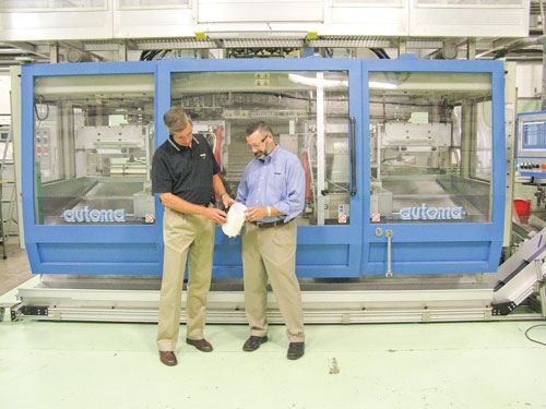Currier's Al Gross (left) and John Currier