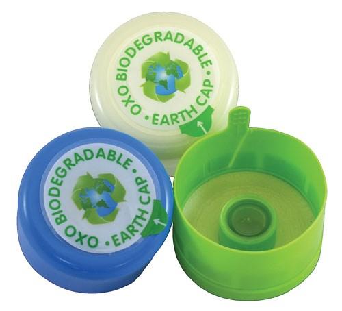 Biodegradable caps
