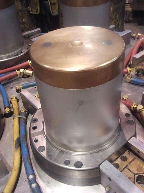 mold with beryllium copper core cap