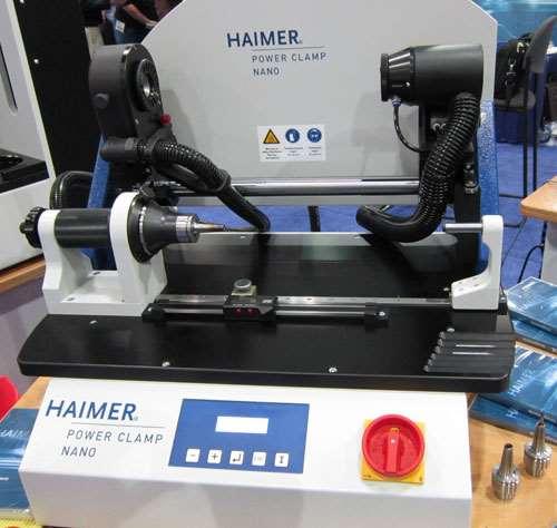 Haimer's horizontally oriented shrink-fit machine