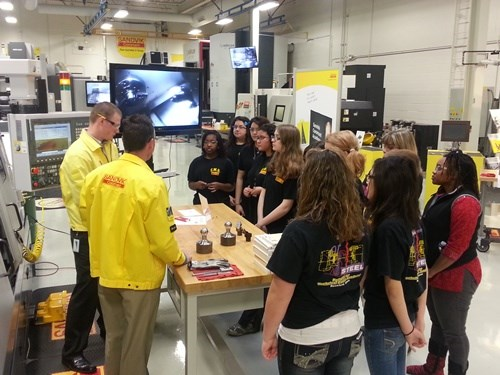 modern manufacturing demonstration for students