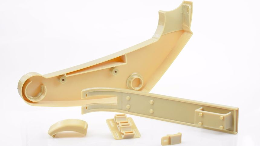 Flight-quality aircraft interior parts produced and certified by Stratasys' Aircraft Interiors Certification Solution