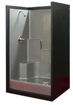 This shower unit, developed by Better Bath for the manufactured home market, was one of the first VEC Shield products.