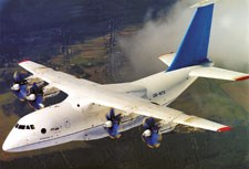 The AN-70 transport was developed in the early 1990s by