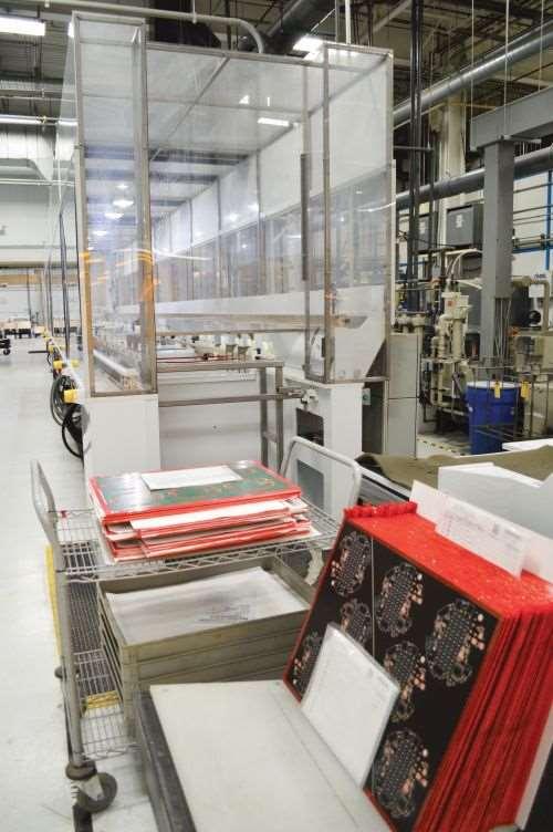 This automated line enables plating of about 1,500 PCB panels each week.