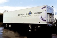 The North American version of the trailer has two axles instead of three and is 50 ft long, 7 ft longer than the European version.