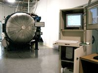 An operator PC is used to interface with the Sentinel autoclave control system, but the controller operates independently of the PC.