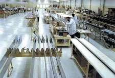 Part layups are done in Composite Structures' 50,000 ft<sup>2</sup> clean room area.