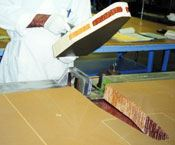 Step 3: A technician prepares the core insert for a C-17 spoiler.