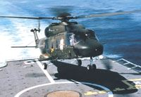 Navy version of the composites-intensive NATO NH90, making a deck landing.
