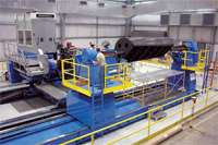 Test articles for several aerospace programs have been completed on the Ingersoll machine.