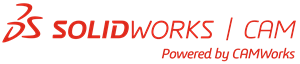 SolidWorks CAM, powered by CAMWorks logo